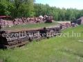 Vasúti talpfák kertépítéshez